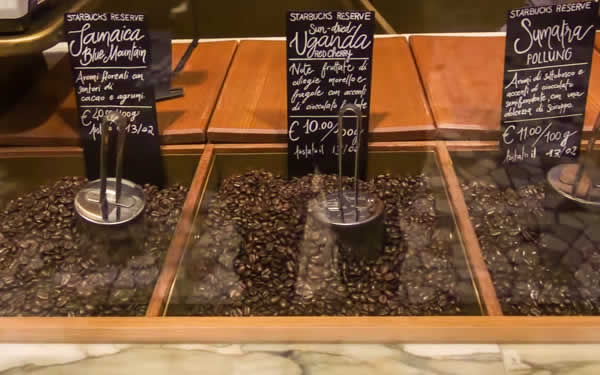 roasted coffee beans by the scoop