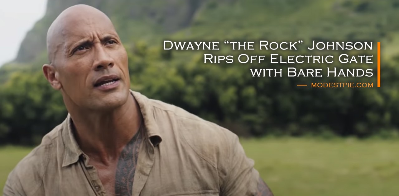 the rock dwayne johnson rips gate